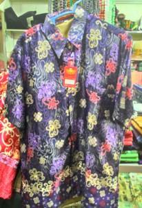 Baju kemeja batik khas kalimantan timur (Biru Tua)