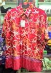 Baju kemeja batik khas kalimantan timur (merah)
