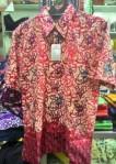 Baju kemeja batik khas kalimantan timur (merah maroon)