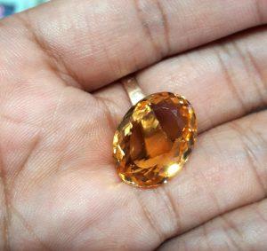 Batu Citrine Kuning Super (1)