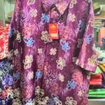 Baju kemeja batik khas kalimantan timur (ungu)