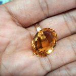 Batu Citrine Kuning Super